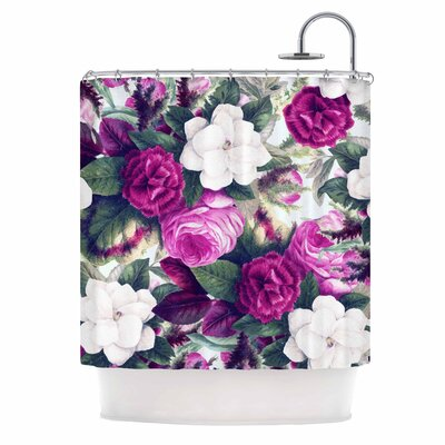 Exotic Flora Painting Shower Curtain