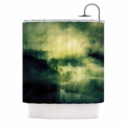Dark Mystical Landscape Shower Curtain