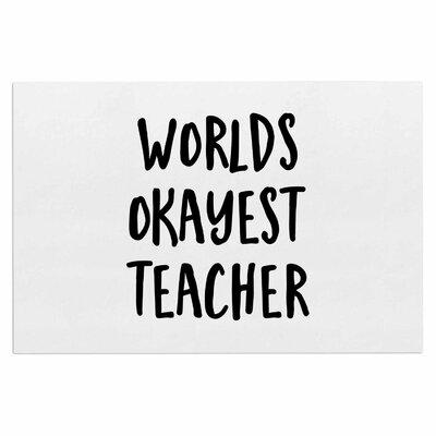 Worlds Okayest Teacher Doormat