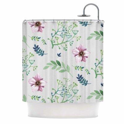 Summer Flower Pattern Shower Curtain