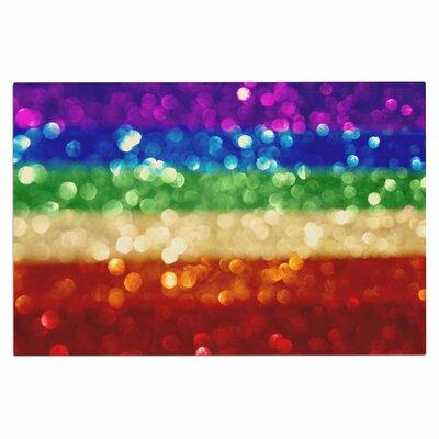 Rainbow Bokeh Doormat