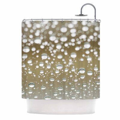 Neutral Rain Nature Shower Curtain