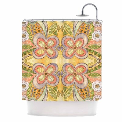 Ethnic Floral Illustration Shower Curtain