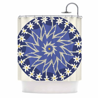 Sawtooth Flower Nature Shower Curtain