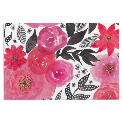 Pink Garden Rose Decorative Doormat