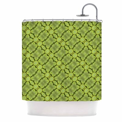 Leafy Lozenges Shower Curtain