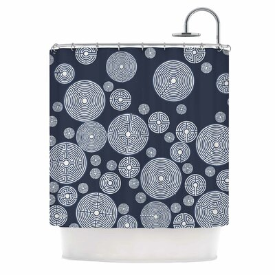 Indigo Labyrinths Shower Curtain