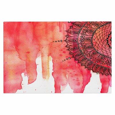Red Mandala Doormat