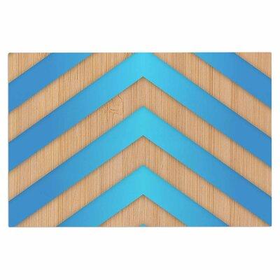 Turquoise Chevron Doormat