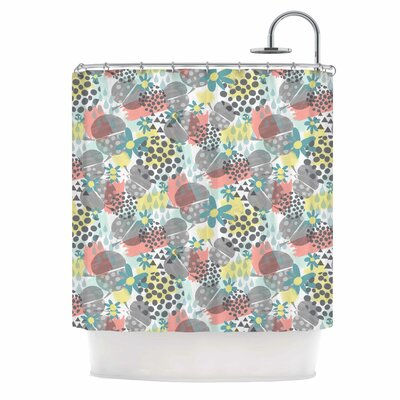 Apples, Drops & Blooms Digital Shower Curtain