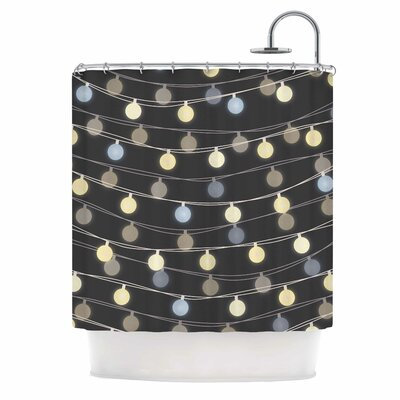 Fairy Lights Love Bokeh Shower Curtain