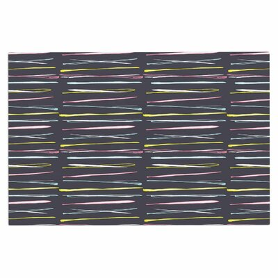 Rosewall Thorns / Gray Stripes Decorative Doormat