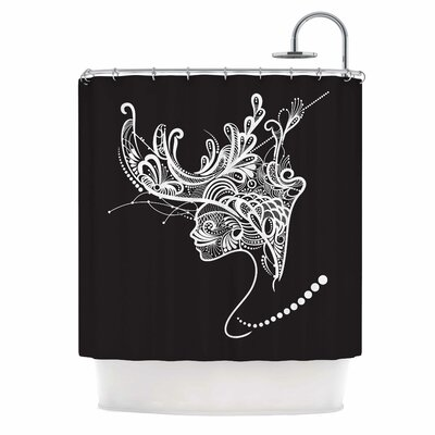 Horned Woman Shower Curtain