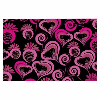 Sweet Love Doormat Color: Pink/Black