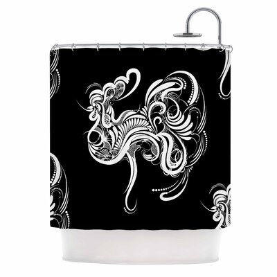 Cockerel Illustration Shower Curtain
