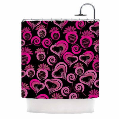 Sweet Love Shower Curtain Color: Pink/Black