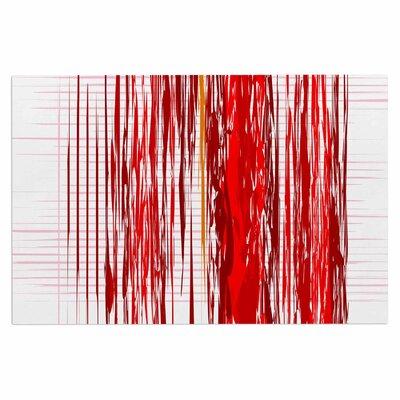 Red Abstraction Doormat