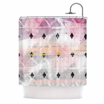 Abstract Geometry and Painting Painting Shower Curtain