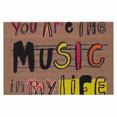 Music in My Life Quote Decorative Doormat