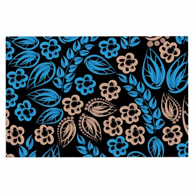 Blue Flowers Doormat