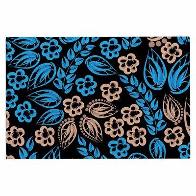Blue Flowers Doormat
