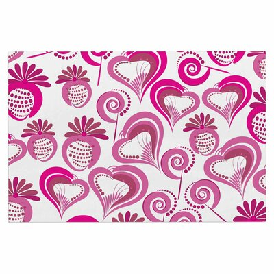 Sweet Love Doormat Color: Pink/White