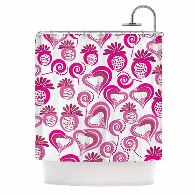 Sweet Love Shower Curtain Color: Pink/White