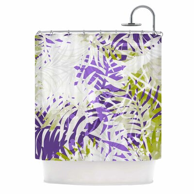 Leaves Vector Shower Curtain