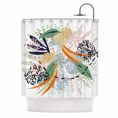 Abstract Marine Shapes Illustration Shower Curtain