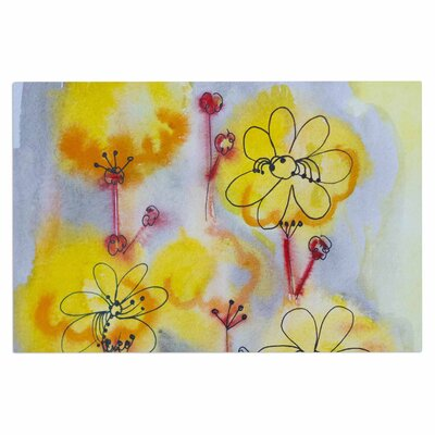 Yellow Flowers Doormat