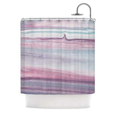'Painting Pastel Lines' Painting Shower Curtain
