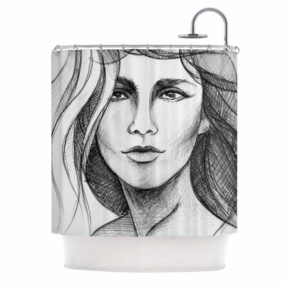 Fashion Woman People Shower Curtain