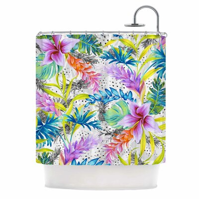 Exotic Pattern Illustration Shower Curtain