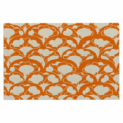 Art Deco in Orange Doormat