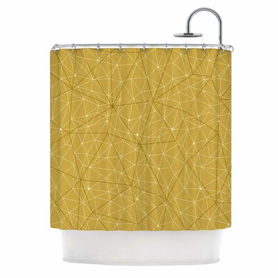 'Wanderlust' Shower Curtain Color: Yellow
