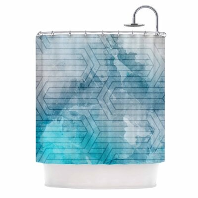 Frost Labyrinth Shower Curtain