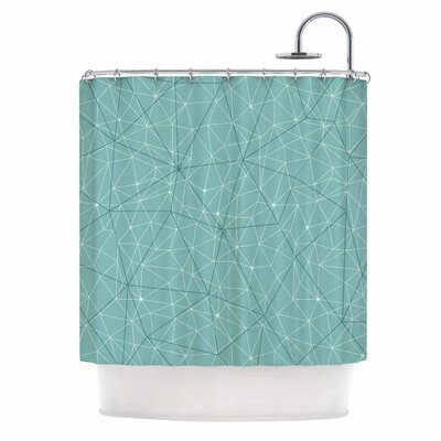 'Wanderlust' Shower Curtain Color: Blue