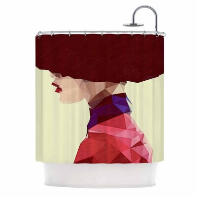 Chic Hat Illustration Shower Curtain