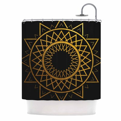 Gilded Sundial Shower Curtain