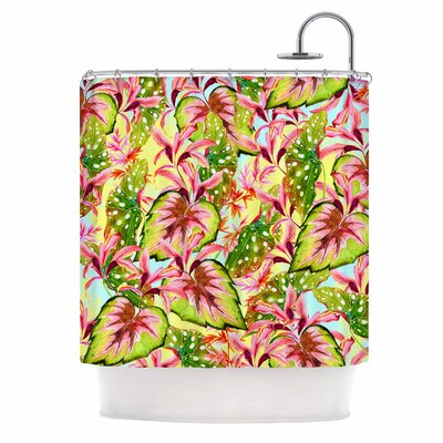 Exotic Botanical Pattern Illustration Shower Curtain