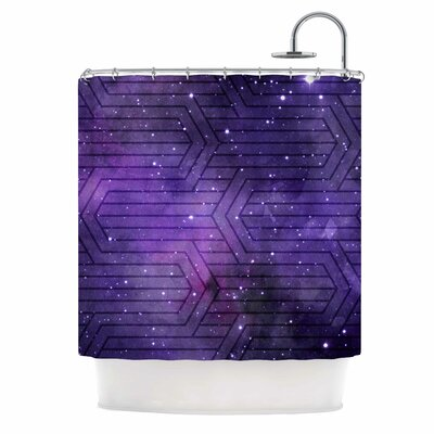 Cosmic Labyrinth Shower Curtain