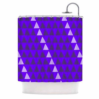 Overload - Purple Digital Shower Curtain
