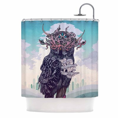 Journeying Spirit (Owl) Fantasy Shower Curtain