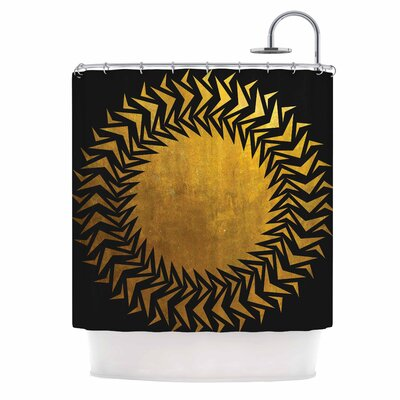 Gilded Chaos Shower Curtain