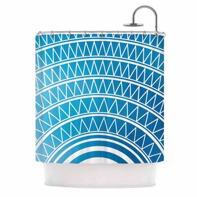 Portal Shower Curtain Color: Azure