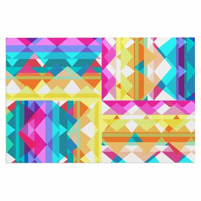 Triangle Checker Rainbow Decorative Doormat