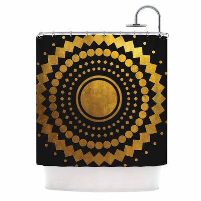 Gilded Confetti Shower Curtain