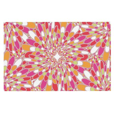 Flourishing Doormat Color: Pink/Orange
