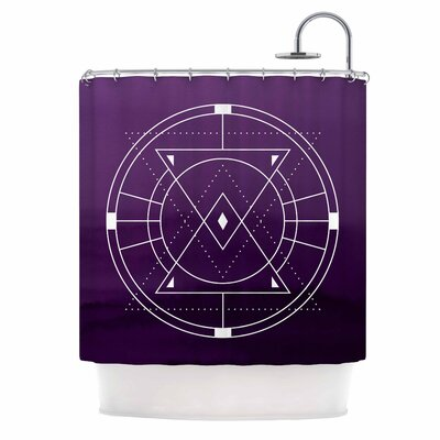Mystic City Digital Shower Curtain