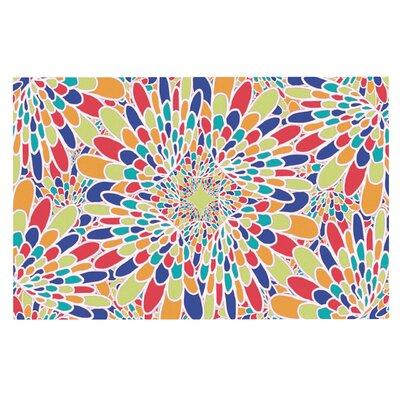 Flourishing Doormat Color: Blue